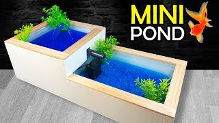 How to Make a MINI POND or WATER FOUNTAIN at Home