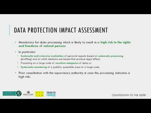 GDPR – Data protection impact assessment