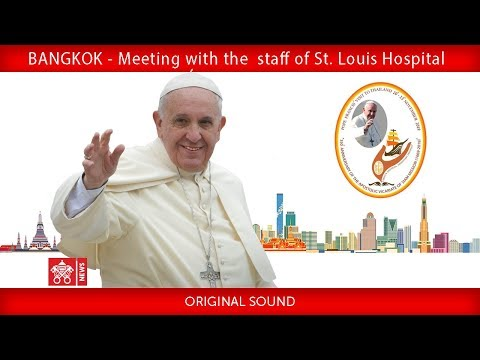 Pope Francis-St. Louis Hospital-Meeting with medical staff 2019-11-21