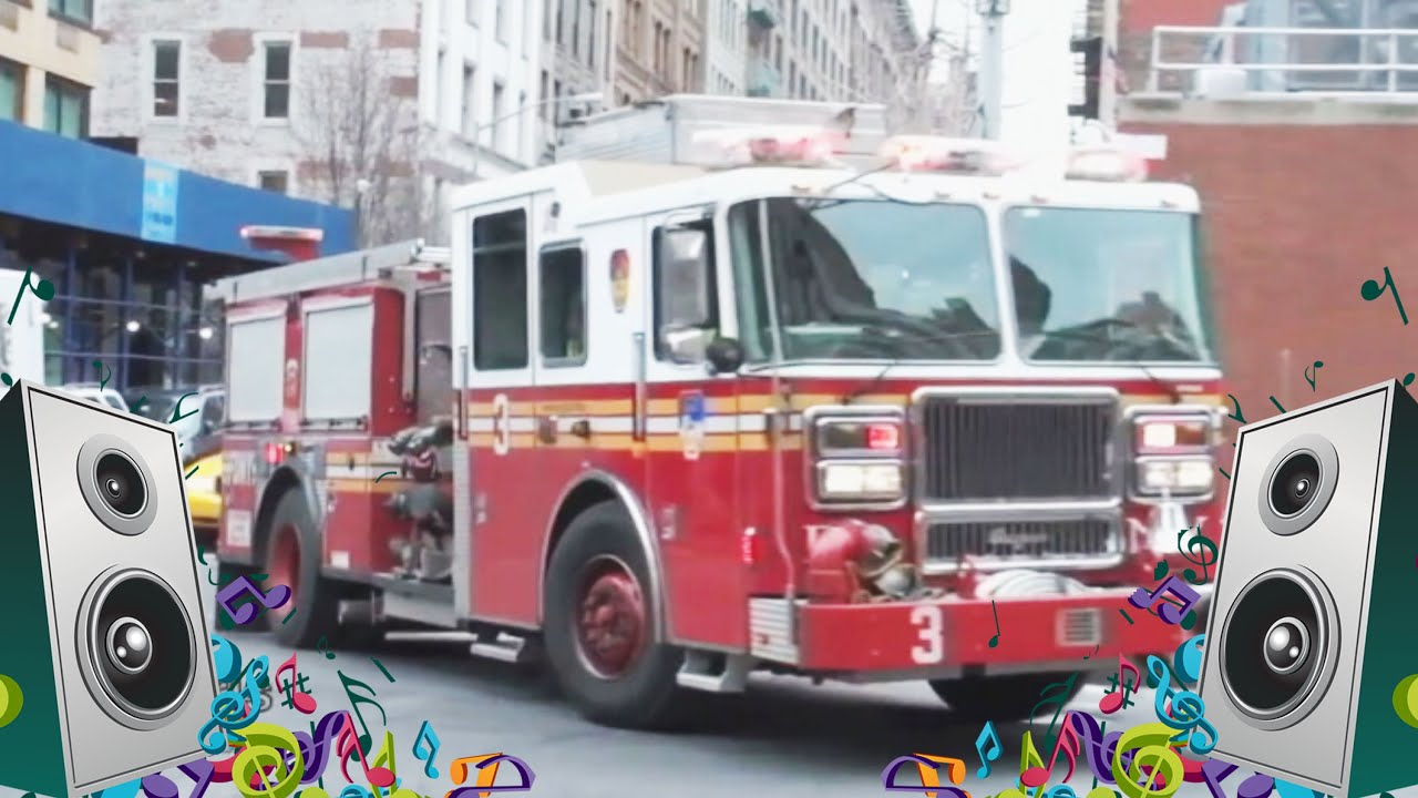 Big Red Fire Engine - Kids Song and Fire Truck Music Video ...