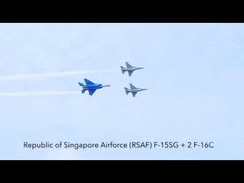 Aerobatic Flying Display at Singapore Airshow 2018