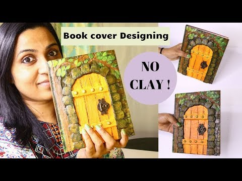 Awesome Book cover making idea / No clay used /Cardboard Craft By Aloha Crafts