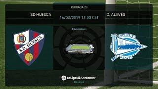 Calentamiento SD Huesca vs D. Alavés