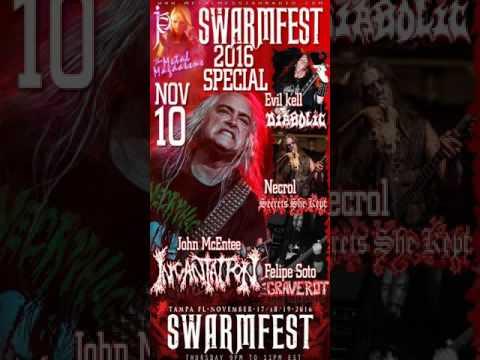 John McEntee of Incantation interview on Swarmfest pre show broadcast 2016
