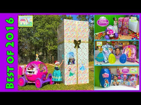 Biggest Disney Princess Surprise Toys Box with 24v Disney Princess Carriage Ride-On Kids Compilation
