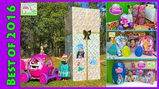 Biggest Disney Princess Surprise Toys Box with 24v Disney Princess Carriage Ride-On Kids Compilation