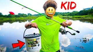 KID Catches UNEXPECTED Fish!! (Dad vs Kid Fishing Challenge)