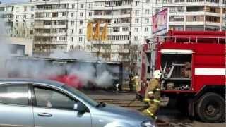 Горит автобус Казань . Часть 1