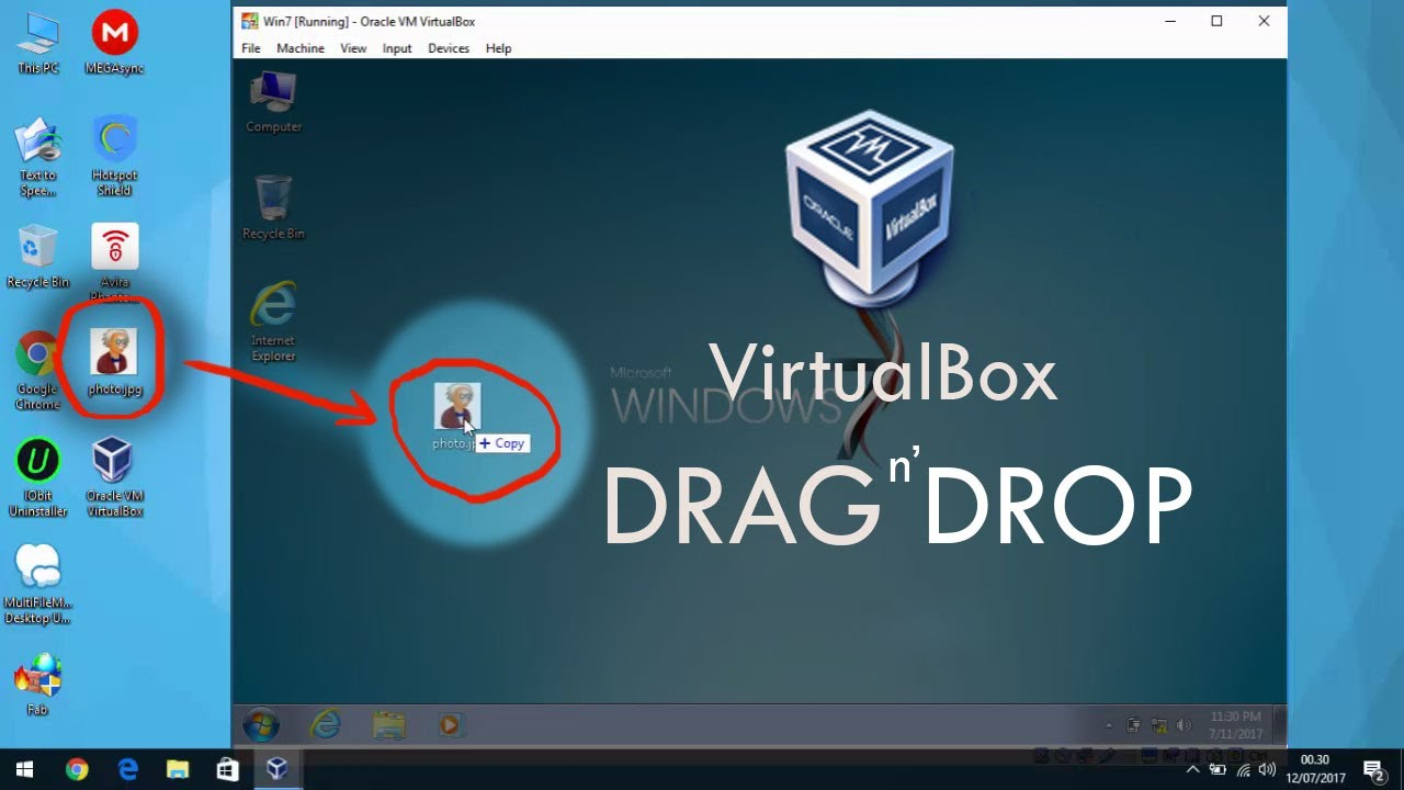 How to Copy/Paste File From Host to Guest VirtualBOX with Drag and