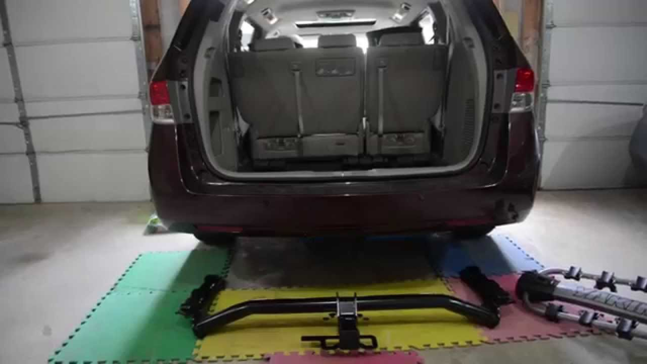 installing a hitch on a 2014 honda odyssey youtube rh youtube com 2016 honda odyssey hitch wiring honda odyssey trailer hitch wiring harness [ 1280 x 720 Pixel ]