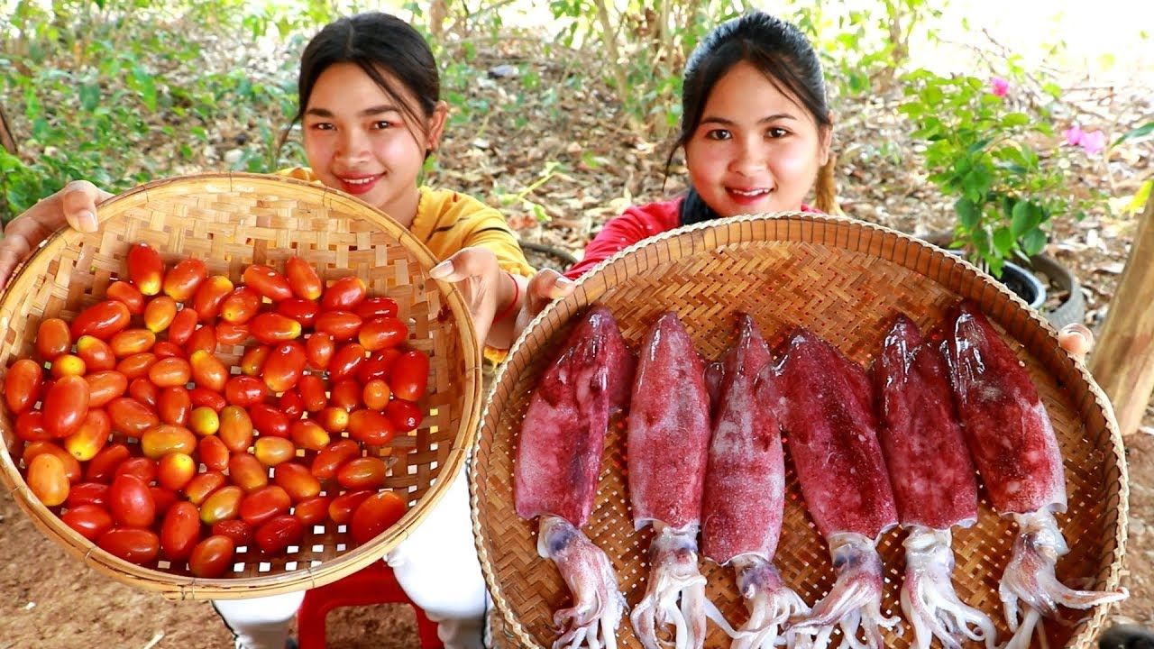 Download Fry Cherry Tomato With Squid Cooking Recipe - My Food My Lifestyle