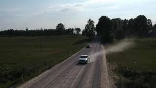2018 Saab 9-5 NG Latvia roads from Drone