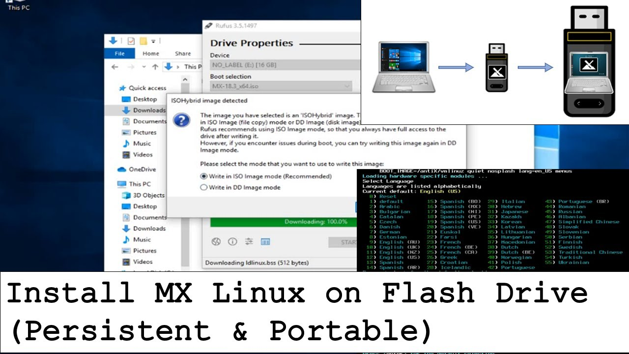 Persistent MX Linux on Flash Drive | TechSolvePrac