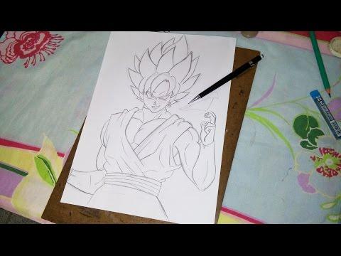 How to Draw Goku Black SSJ Rose - Como desenhar Goku Black SSJ Rosa (Sketch/Esboço) Part. 1