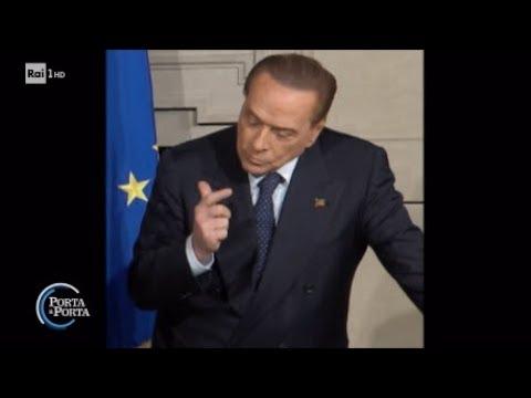 I gesti di Silvio Berlusconi - Porta a porta 12/04/2018