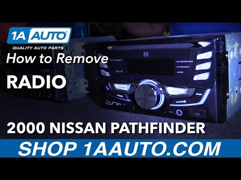 How To Remove Radio 96-04 Nissan Pathfinder