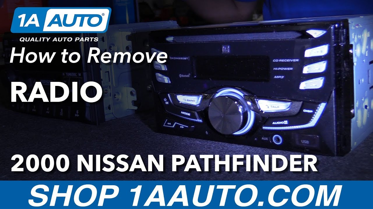 How To Remove Radio 96 04 Nissan Pathfinder Youtube Car Stereo Wiring