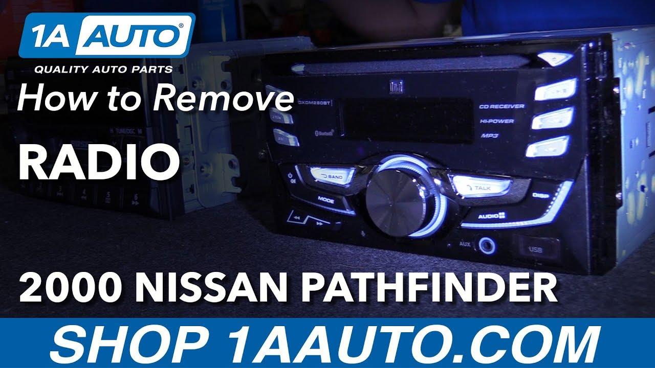 How To Remove Radio 96 04 Nissan Pathfinder Youtube