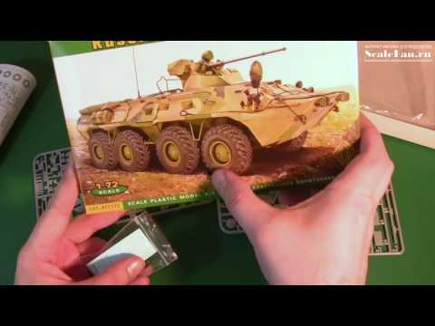 БТР-80А сборная модель 1/72 ACE BTR-80A scale model