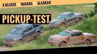Mercedes X-Klasse gegen Nissan Navara und Renault Alaskan (Pickup Vergleich 2018)