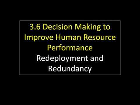 3.6 19 Redeployment and Redundancy