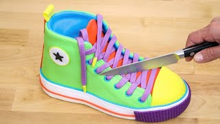 3D Colorful SNEAKER CAKE - How To Make by Cakes StepbyStep