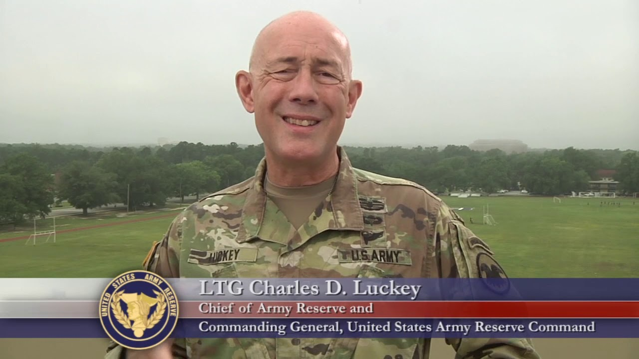 LTG Charles D. Luckey, Chief of Army Reserve and Commanding General, United States Army Reserve Command, gives a shout out to the 91st Training Division on their 100th anniversary.