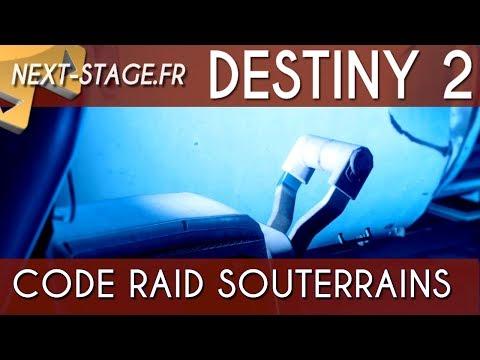 destiny 2 raid code des souterrains du léviathan