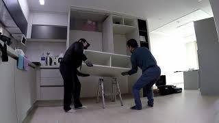 【성남 한양수자인성남마크뷰】 주방 냉장고장 LG 오브제…
