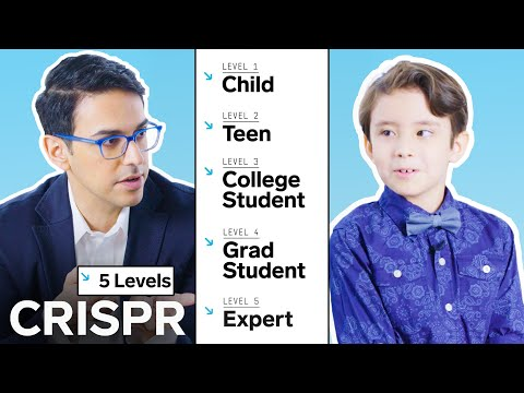 Biologist Explains One Concept in 5 Levels of Difficulty – CRISPR | WIRED