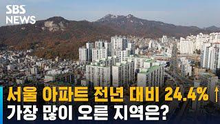 서울 아파트 지난해 비해 24.4%↑…상위 3위 어디?…