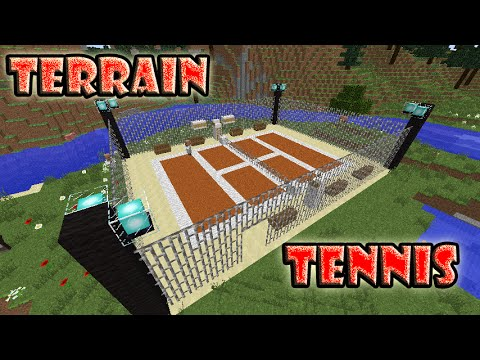 Minecraft construction d 39 un terrain de tennis youtube - Terrain de basket maison ...