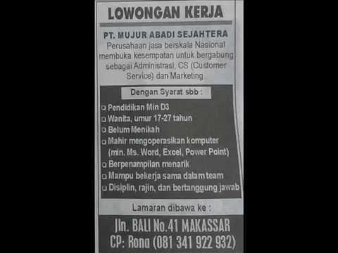 Info Lowongan Kerja Makassar Info Loker Makassar 5 September 2015