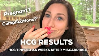 We Got The hCG Results . . . || hCG Tripled 2.5 Weeks After Miscarriage. Pregnant? Complications?
