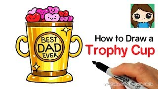 How to Draw a Trophy Cup Easy | Father