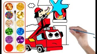 Fire Man drawing for kids a very big fire accident drawing for kids step by step easy