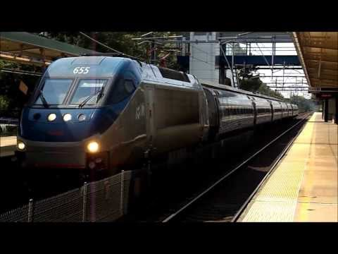 Amtrak, MBTA Commuter Rail, and CSX Freight HD: Assorted Action @ Route 128 (RTE) on 8/20/13