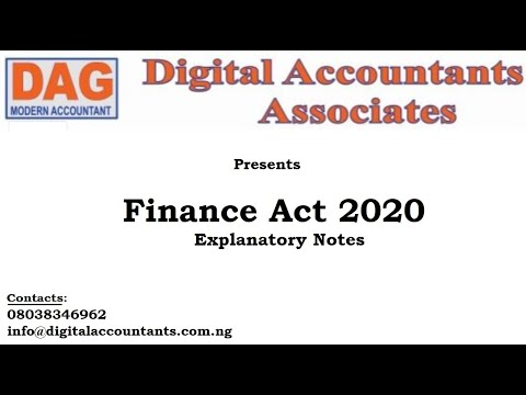 Finance Acts 2020 Explanatory notes