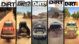 DiRT vs DiRT 2 vs DiRT 3 vs DiRT Showdown vs DiRT Rally vs DiRT 4 - Gameplay Comparasion (HD)