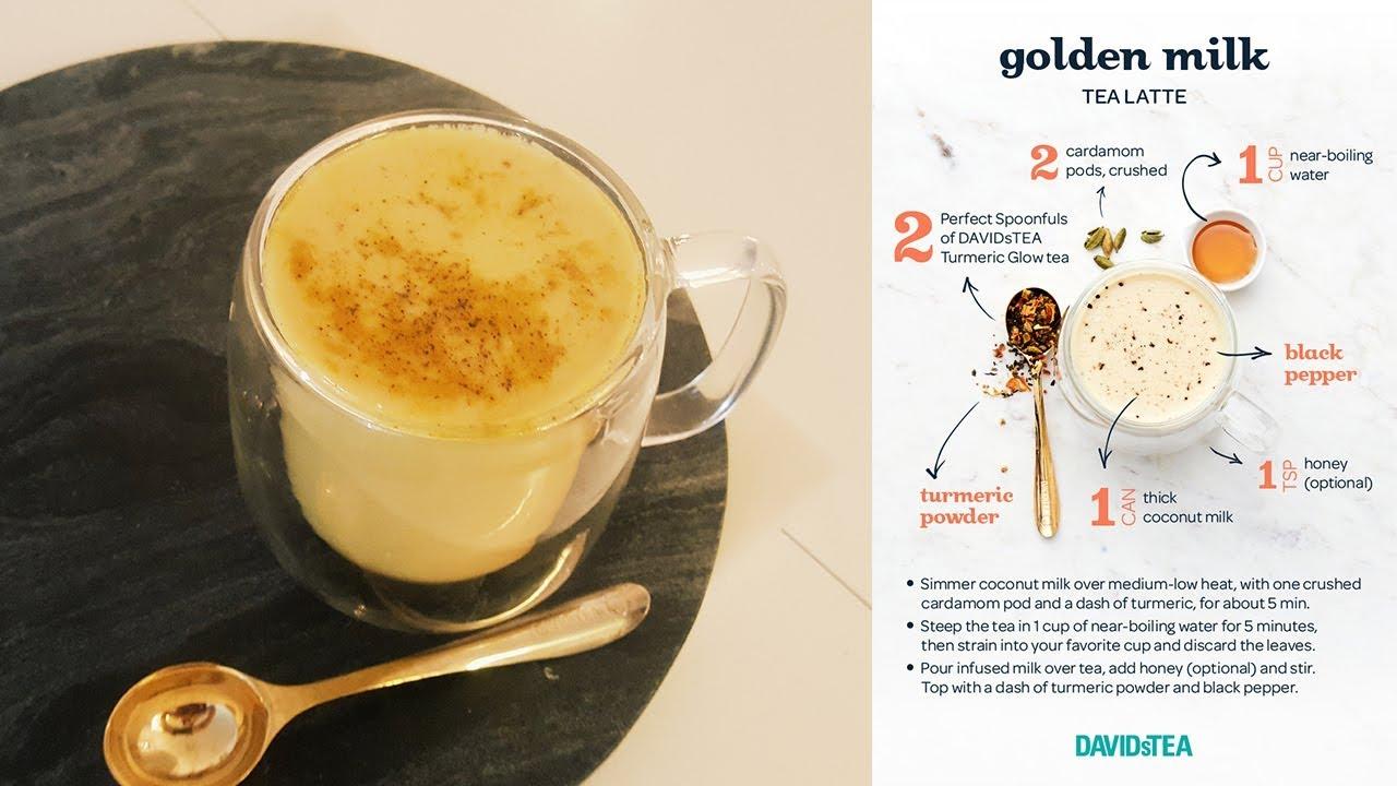 Testing Davidstea S Golden Milk Latte Recipe Youtube