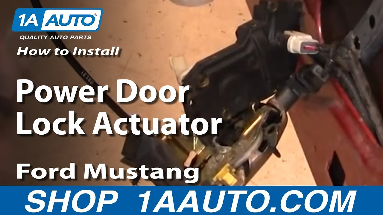 How To Install Replace Power Door Lock Actuator Ford Mustang 9904 1AAuto  YouTube