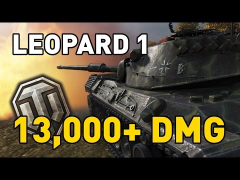 World of Tanks || Leopard 1 - 13,000+ DMG...