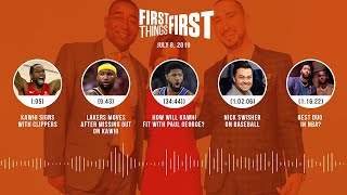 First Things First audio podcast (7.8.19) Cris Carter, Nick Wright, Jenna Wolfe | FIRST THINGS FIRST