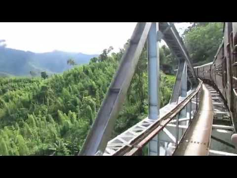 15691 Lumding Jn-Silchar Cachar MG express crossing Dhanuk river bridge!