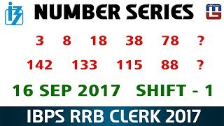 Number Series | Maths | 16 Sep - 1st Shift | IBPS RRB CLERK 2017 2017 Video