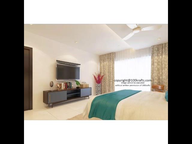 Ajay Gupta 3bhk Interior Design by 100Krafts