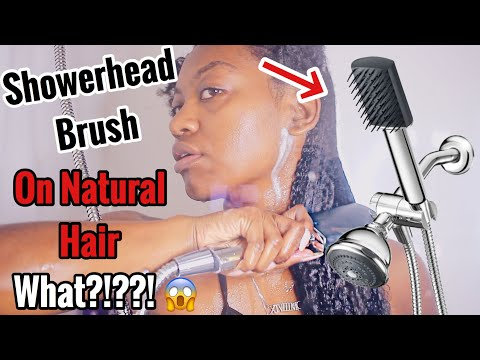 *NEW* Conair Showerhead Brush | IS IT GOOD FOR NATURAL HAIR?!?!