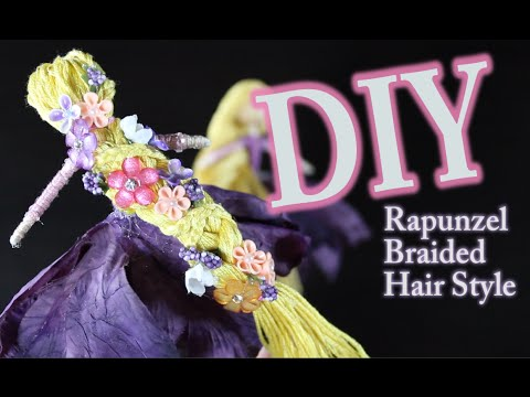 DIY Rapunzel's Braided Hair How To Make Rapunzels Hair For A Fairy Doll