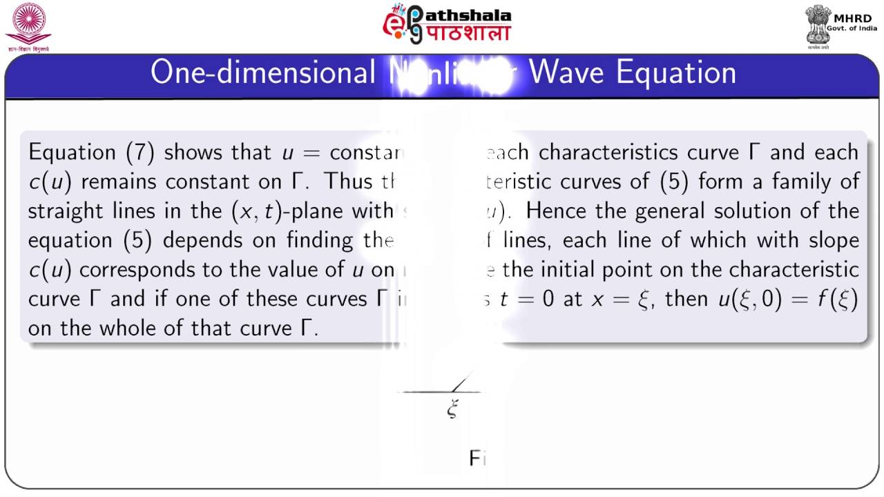 Nonlinear one-dimensional wave equation (Maths)