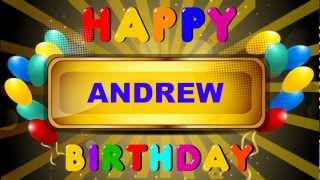 Andrew - Animated Cards - Happy Birthday